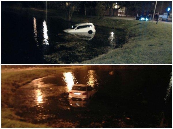 ВРостове наМожайской элитный Mercedes потонул вводоеме