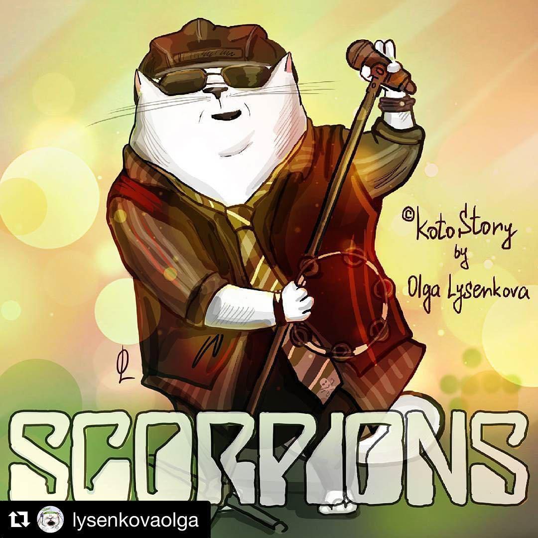 Рисунок волгоградской художницы размещен в социальная сеть Instagram группы Scorpions