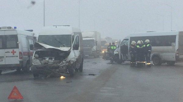 ВВолгограде встолкновении 2-х маршруток, легковушки иКАМАЗа пострадали три человека