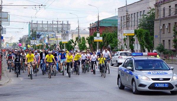 Вволгоградском велопараде приняло участие неменее 1000 человек